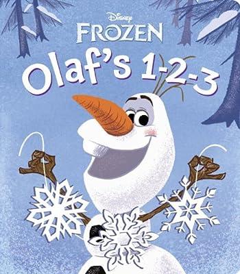 Frozen: Olaf's 1-2-3 (Glitter Board Book) de Disney Pr