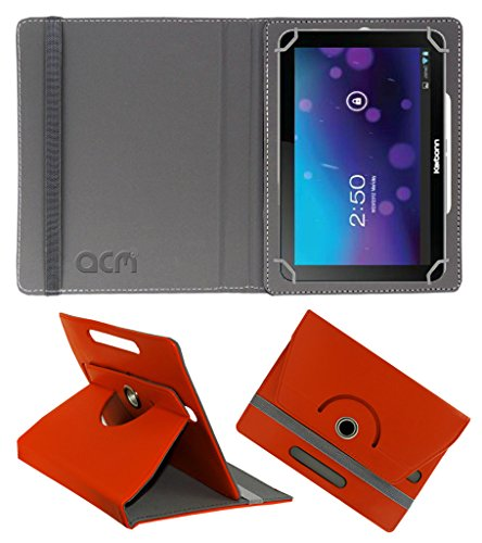 Acm Rotating 360° Leather Flip Case for Karbonn Smart Tab 7 Tornado Cover Stand Orange  available at amazon for Rs.149