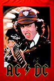 AC/DC Flagge Fahne POSTERFLAGGE Angus Young Gitarre