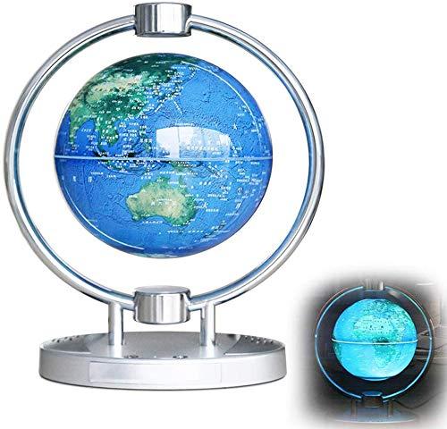 """Levitación magnética flotante Mundial de la correspondencia del globo 6"""" regalos de la decoración de los cabritos educativos de la lámpara anti-gravedad globo giratorio luz LED y Bluetooth Audio Home"""