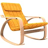 Forzza Elly Kid's Rocking Chair (Matt Finish, Yellow)