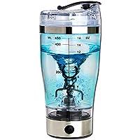 TiooDre - Cable USB recargable para café, batidora de proteínas eléctricas y batidora automática con vaso mezclador desmontable para oficina, gimnasio, viaje, 450 ml