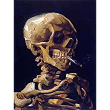 VINCENT VAN GOGH SKULL WITH A BURNING CIGARETTE OLD ART PAINTING PRINT 12x16 inch 30x40cm 2922OM
