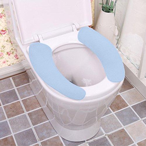 Coprivaso copri-toilette con pad warm velvet pack of 3sets, 2pcs/set (blu)