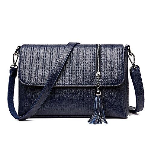 Mefly Moda femminile impermeabile usura zaino borsa Fiocco di bronzo blue