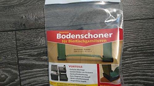 Bodenschoner Bierzeltgarnituren 12 teilig Set, schwarz, Bodenschoner Biertische, Schutzkappe für...