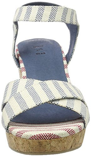 Shoe The Bear Damen Alec Stripe Plateau Blau (170 BLUE)