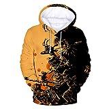 JMETRIC_shirt Sweat à Capuche Halloween Unisexe Imprimée 3D Pulle Manche Longue...