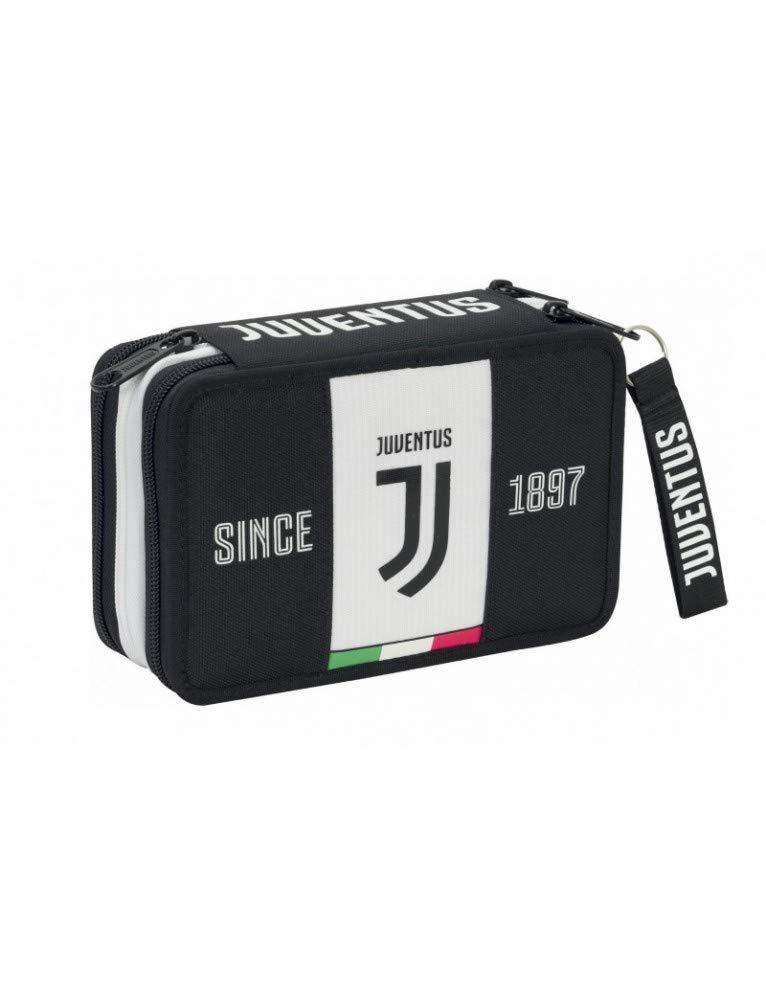 Seven Spa F.C. Juventus – Estuche de 3 cremalleras completo de papelería – Colección escolar 2019-20 – Licencia oficial Seven
