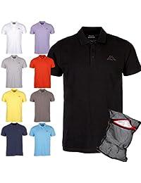 Kappa Herren Poloshirt Ziatec Edition mit Praktischem Wäschenetz 1er bis 6er Packs in Vielen Farben verfügbar