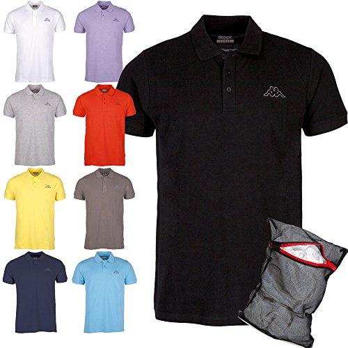 Kappa Herren Poloshirt Ziatec Edition mit praktischem Wäschenetz 1er bis 6er Packs in vielen Farben verfügbar, Größe:3XL, Farbe:1 x navy (Ärmel Herren Polo Golf)