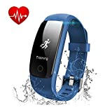 Fitness Tracker,MUXI Activity Tracker Cardiofrequenzimetro Impermeabile IP67 Smartband Bracciale Braccialetto Fitness Orologio Smart Watch Band Pedometro da Polso Bluetooth Smartwatch per Donna Uomo
