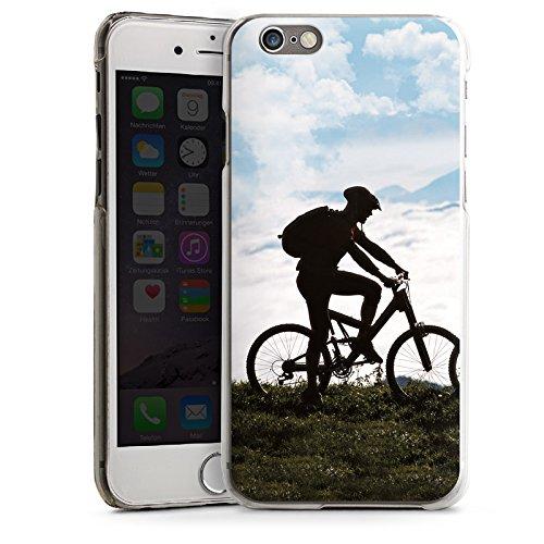Apple iPhone 4 Housse Étui Silicone Coque Protection Bicyclette VTT Nature CasDur transparent