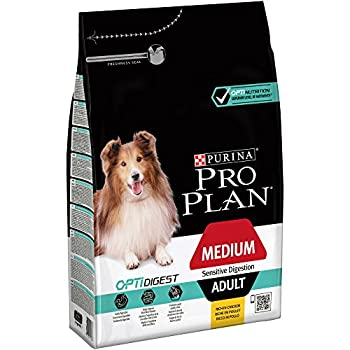 Pro Plan Medium Adult Sensitive Digestion avec Optidigest Riche en Poulet - 3 KG - Croquettes pour Chiens Adultes de Taille Moyenne