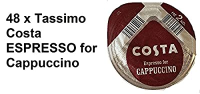 48 x Tassimo Costa Espresso for Cappuccino T- Discs, SOLD LOOSE