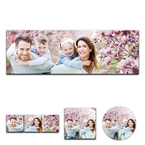 Leinwandbild - 'Personalisierbar mit Ihrem Wunschmotiv' - Panorama-Format - 120x40 cm / 40x120 cm - Mein Foto auf Leinwand - SOFORT VORSCHAU - Eigenes Bild - Dein Wunschmotiv aufgespannt auf Galerie Keilrahmen - Echtholz – einzigartige Geschenkidee, mit Ihrem eigenem Foto - Kind - Familie - Haustier – Urlaub - Firmenlogo, Wunschbild auf Leinwand, Verschenken Sie das Leinwandbild mit individuellem Bild zu Weihnachten und Geburtstagen an Freunde und Familie.
