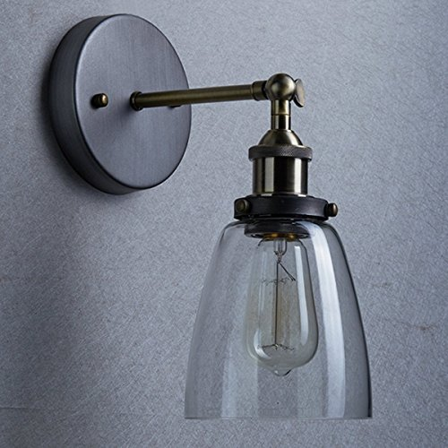 Matching ceiling and wall lights amazon vintage industrial edison glass wall sconce lighting ceiling light for loft coffee bar living room bedroom kitchen dining room mozeypictures Image collections