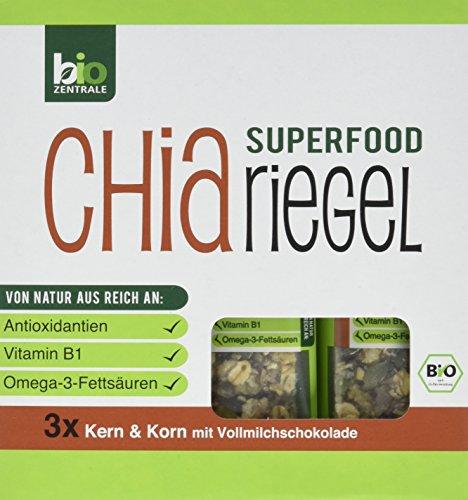 biozentrale Chia Riegel Kern und Korn, 2er Pack (2 x 120 g) (Korn-kern)