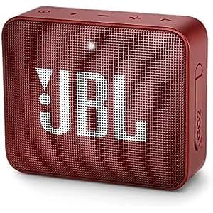 JBL GO 2, Altavoz Inalámbrico Portátil con Bluetooth, Parlante Resistente al Agua (IPX7), Hasta 5h de Reproducción con Sonido de Alta Fidelidad, Rojo