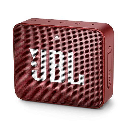 JBL GO 2 Speaker Bluetooth Portatile Cassa Altoparlante Bluetooth Waterproof IPX7 con Microfono, Funzione di Noise Cancelling, fino a 5 h di Autonomia, Rosso