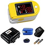 Pulox PO-100 Pulsossimetro con display a LED, di colore giallo, incl. Hardcase,...