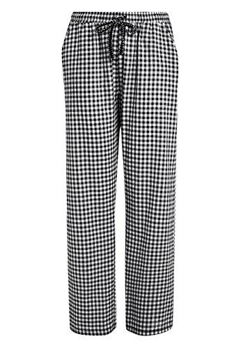 next Donna Pantaloni del pigiama in cotone Nero Gingham