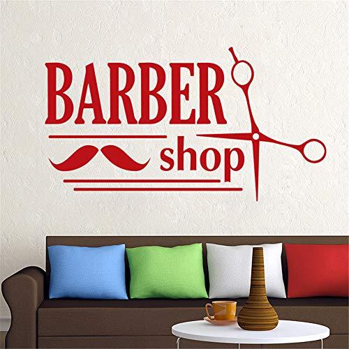 lyclff Man Barber Shop Aufkleber Shave Bread Aufkleber Haircut Shavers Poster Vinyl Wall Art Decals Decor Windows32 * 58cm - 3-piece Shave Set