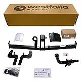 Westfalia Abnehmbare Anhängerkupplung für 207/207 CC Cabrio (BJ ab 04/2006) im Set mit 13-poligem fahrzeugspezifischen Elektrosatz