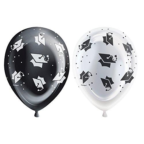 Unique Party Supplies Luftballons aus Latex mit Schneeflocken und LED-Beleuchtung, 25,4cm, 5 Stück (Latex Schneeflocken)