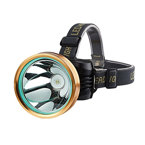 MUTANG LED-Verstellbare Scheinwerfer Lade Long-Bereich 3000 Meter Head-montierte Taschenlampe Super Bright Night Fishing Angeln Lampe (Traktor Super C)