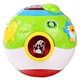 Arshiner Kids Educational Learning Toys Magic Cube Cartoon Music Sound Ball with Light
