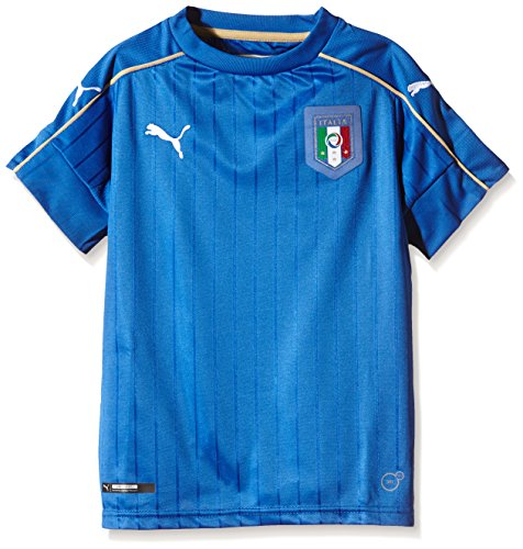 Puma Kinder Trikot FIGC Italia Home Shirt Replica, team power blue-white, 116, 748833 - Trikot Italienische Nationalmannschaft