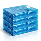 TAILI 4er Set 120 x 100cm Premium-Vakuumbeutel Aufbewahrungsbeutel, großen, platzsparend für große Bettdecken, Bettwäsche, Giant Handtücher, Kissen, Decken, Blau