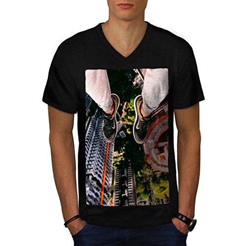 skyscraper-view-high-structure-men-new-black-l-v-neck-t-shirt-wellcoda