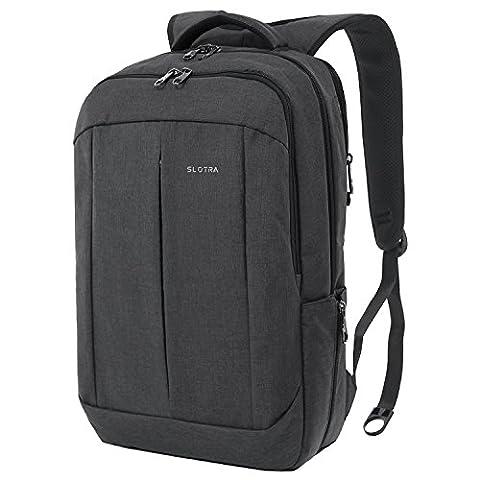 SLOTRA 17 Inch Laptop Backpack for Men Women Business Travel Bag Casual School Rucksack Anti Theft Lightweight Dark