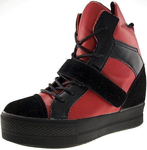 Klettverschluss Maxstar Top Sneakers High C2 C2 Red hoch B盲nder bis 1 Black CAfqC