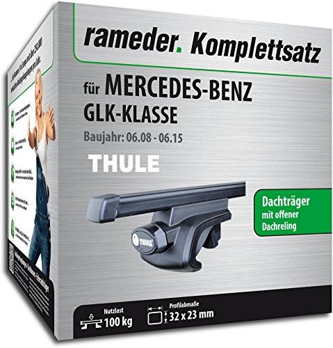 Rameder Komplettsatz, Dachträger SquareBar für Mercedes-Benz GLK-KLASSE (116010-07580-6)