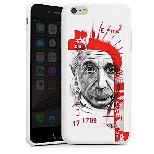 Apple iPhone X Silikon Hülle Case Schutzhülle Albert Einstein Zeichnung Art Silikon Case weiß