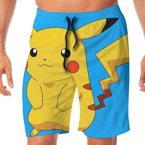 DailiH Badehose Cute Pokemon - Pikachu Quick Dry Beach Boardshorts Badeanzug Mit Seitentaschen Für Jugend/MÄNNER/Jugendliche Teen Boys (Cute Boys Teen)