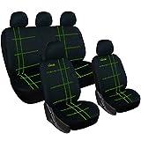 WOLTU AS7272 Universal Sitzbezüge für Auto Sitzbezug Schonbezüge Autoauflage Schoner, Classic-Linie, schwarz-grün