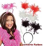 Feder-Wabbles sortierte Farben Haarreif Kopfschmuck Haaraccessoire (pink)