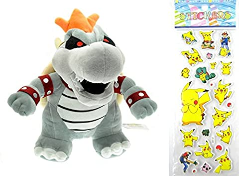 Nintendo Super Mario Bros. 2 Dry Bowser Bones Plush Toy Doll Around 21cm 8