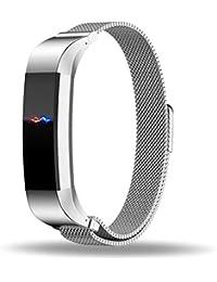Fitbit Alta Correa Reemplazo, ZRO Cierre totalmente magnético Cierre Mesh Loop Milanese Acero inoxidable Correa de reloj Para Fitbit Alta Reloj Inteligente