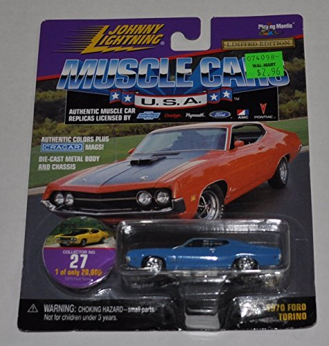 1970 Ford Torino (Blue) #27 - Muscle Cars 1 0f 20,000 - Johnny Lightning - Diecast Car by Johnny Lightning (Diecast Cars Johnny Lightning)