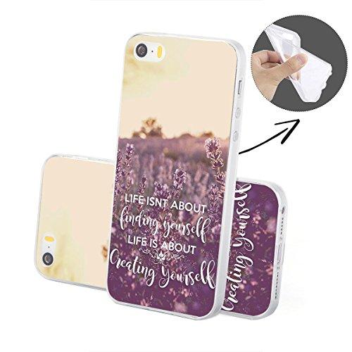 finoo | iPhone 6 / 6S Handy-Tasche Schutzhülle | ultra leichte transparente Handyhülle aus flexiblen Silikon | stylisches TPU Cover Case mit Motiv | King one schwarz Creating yourself