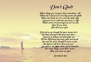Wild image with don't quit poem printable