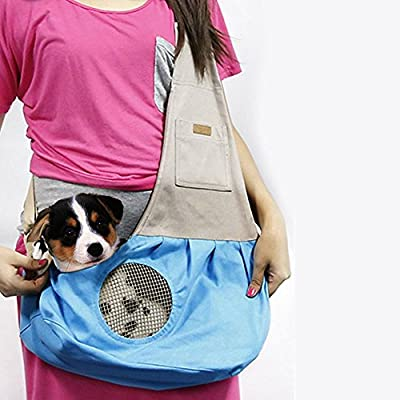 Pet Sling Carrier, PYRUS Dog Sling Bag Shoulder Carry Bag with Extra Pocket for Cat Dog Puppy Kitty Rabbit Small Animals ¡­