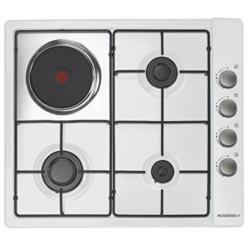 Rosieres RTL631EMRB Dessus de table Blanc four et cuisinière - fours et cuisinières (Dessus de table, Combiné, Blanc, Rotatif, En haut à droite, Fonte)