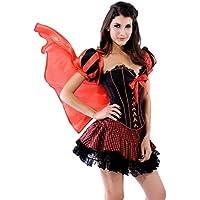 Donna Sexy corsetto Cappuccetto Rosso Halloween fiaba costume rosso Red 10