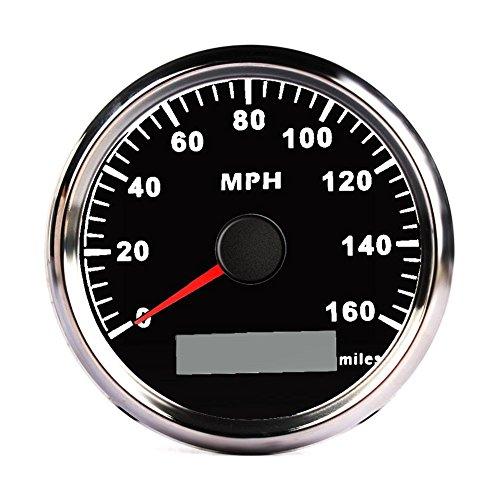 calistouk 85mm Digital Edelstahl GPS Tachometer 160MPH Gauge für Auto Truck Boot Beschleunigung Timer und Performance-Tools